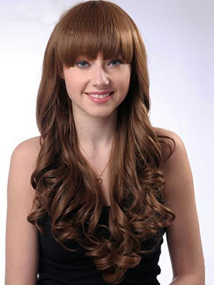 Synthetic Nice-looking Wavy Capless Wig - Image 1