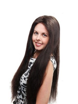 Impressive Straight Full Lace Long Human Hair Wig - Image 1