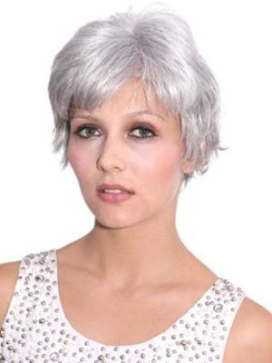 Straight Looking Lace Front Good Mono Top Synthetic Wig - Image 1