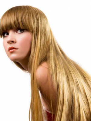 Capless Straight Luxury Incredible Remy Human Hair Wig - Image 1