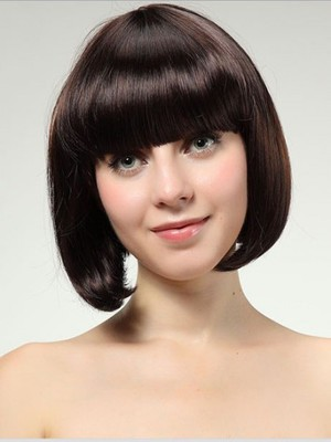 Straight Attractive Synthetic Capless Wig - Image 1