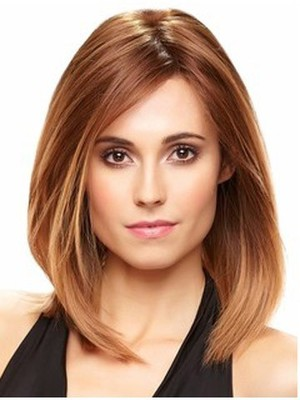 Charming Long Bob Style Remy Hair Lace Front Wig - Image 1
