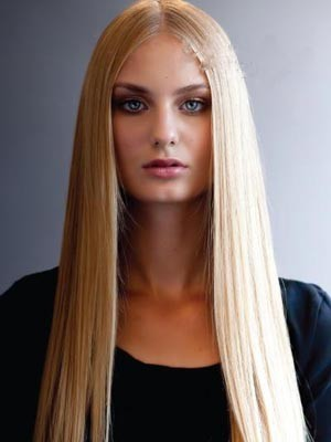 Remy Human Hair Charming Straight Lace Front Wig - Image 1