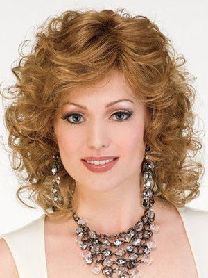 Synthetic Medium Layewavy Red Length Wig - Image 2