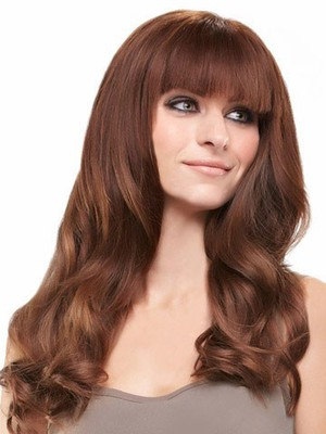 Cute Lace Front Wavy Long Remy Human Hiar Wig - Image 2
