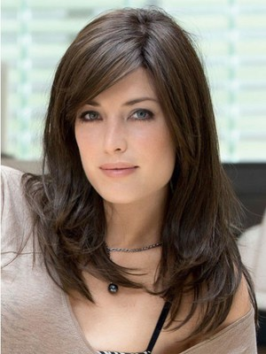 Romantic Straight Remy Human Hair Long Full Lace Wig - Image 1