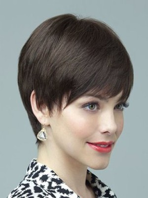 Short Capless Wonderful Straight Remy Human Hair Wig - Image 1