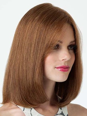 Shoulder Fashion Skimming Bob Human Hair Wig - Image 1