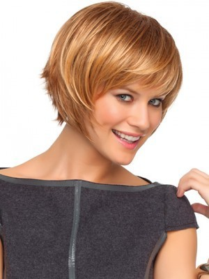 Choppy Bob Style Wig With Razored Ends - Image 2