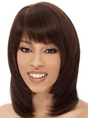 Straight Human Hair Elaborately Capless Wig - Image 1