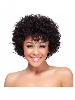 Curly Medium Classic African American Wig - Image 3