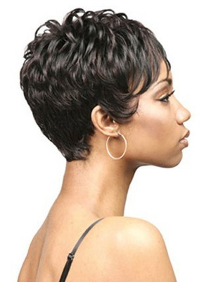 Sophisticated Short Curly Capless African American Wig - Image 3