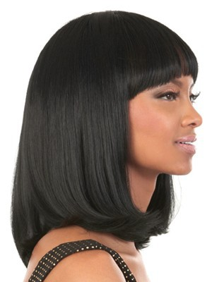 Medium Length Capless Wonderful Human Hair Wig - Image 2
