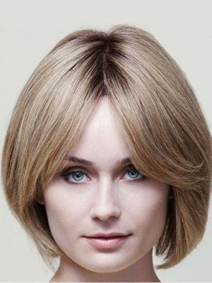 Flattering Human Hair Capless Straight Wig - Image 1