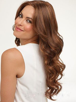 Wavy Glamorous Lace Front Human Hair Wig - Image 1