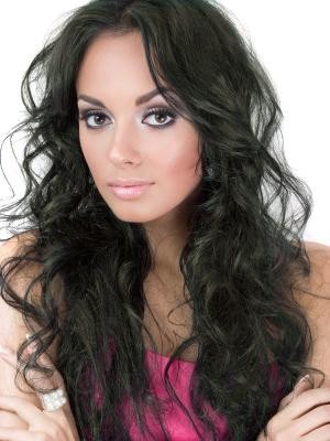 Wavy Remy Hair Long Full Lace African American Wig - Image 1