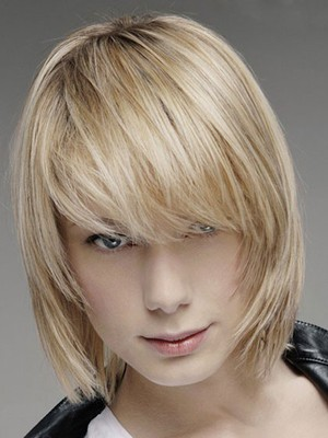 Chic Human Hair Straight Lace Front Wig - Image 1