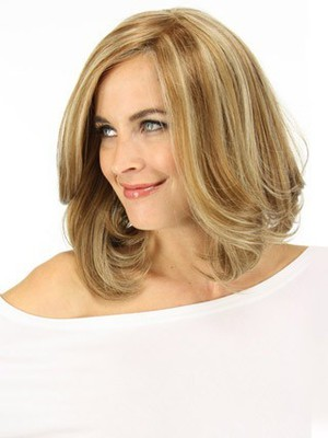 Shoulder Wavy Lace Front Nice Length Human Hair Wig - Image 4