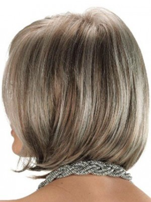 Angled Sides Synthetic Capless Gray Wig - Image 3