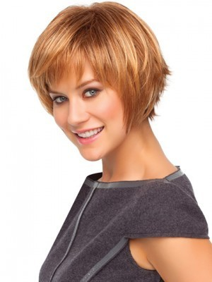 Choppy Bob Style Wig With Razored Ends - Image 3