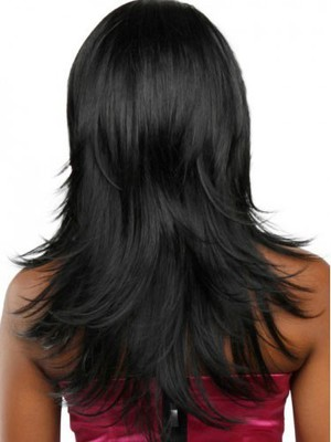 Synthetic Heat Friendly Straight African American Wig - Image 3