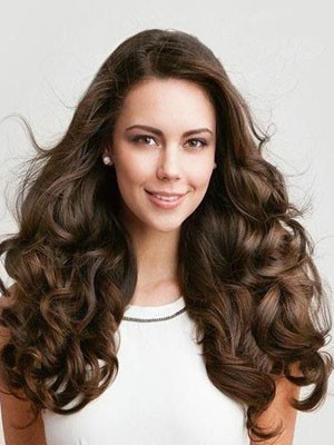 Nice-looking Wavy Human Hair Long Full Lace Wig - Image 1