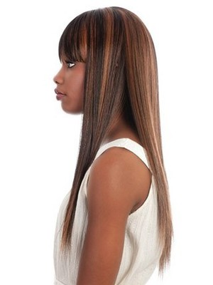 Long Silky Synthetic Straight African American Wig - Image 2
