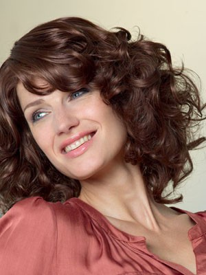 Attractive Length Medium Wavy Lace Front Synthetic Wig - Image 1