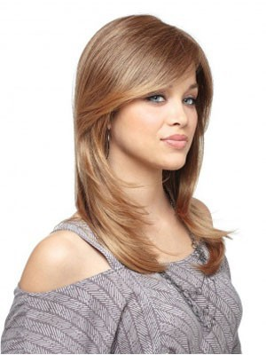 Flattering Lace Front Long Straight Synthetic Wig - Image 1