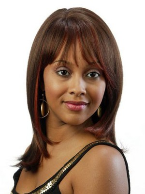 Straight Remy Hair Brown African American Wig - Image 1
