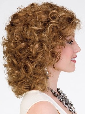 Synthetic Medium Layewavy Red Length Wig - Image 3