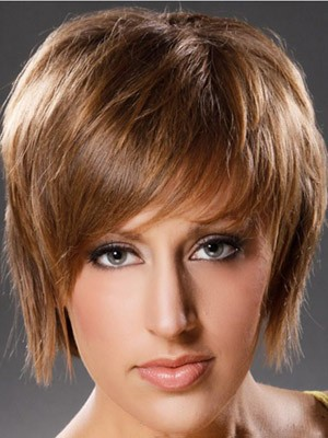 Synthetic Straight Short Capless Wig - Image 3
