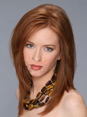 Cute Straight Medium Lace Front Synthetic Wig - Image 1