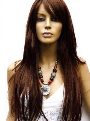 Remy Human Hair Straight Natural Lace Wig For Woman - Image 1