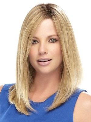 "Lace Front 16"" Romantic Straight Remy Human Hair Wig - Image 1"