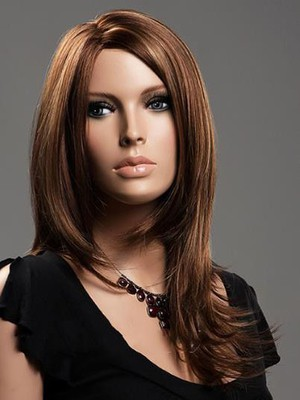 Lace Front Marvelous Human Hair Straight Wig - Image 1