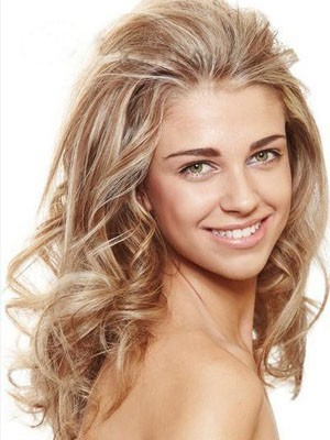 Chic Long Wavy Lace Front Human Hair Wig - Image 1