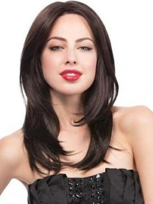 Lace Front Pretty Synthetic Straight Wig - Image 1