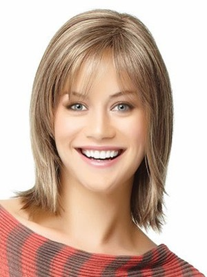 Shoulder Angled-cut Most Popular Length Human Hair Wig - Image 1