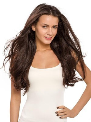 Admirable Long Human Hair Wavy Lace Front Wig - Image 1