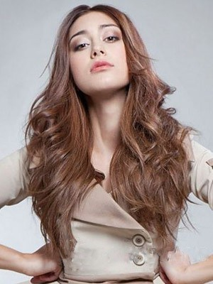 Attractive Lace Front Wavy Synthetic Wig - Image 1