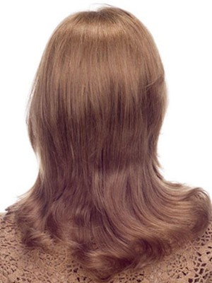 Chic Lace Front Medium Wavy Human Hair Wig - Image 3