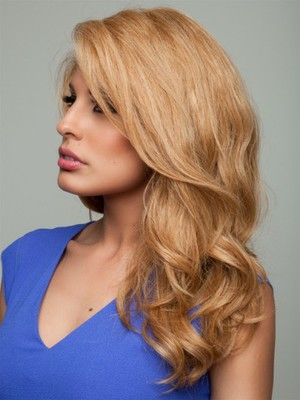 Wavy Long Stupendous Human Hair Lace Front Wig - Image 1