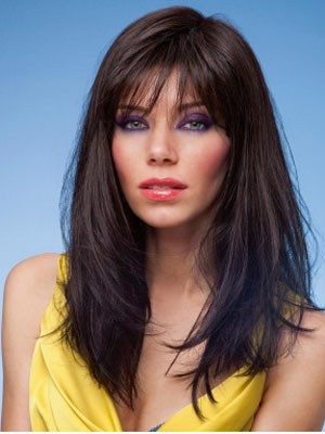 Synthetic Straight Impressive Capless Wig - Image 1