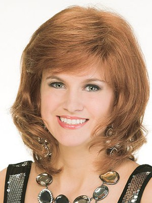 Simple Length Medium Wavy Human Hair Wig - Image 1