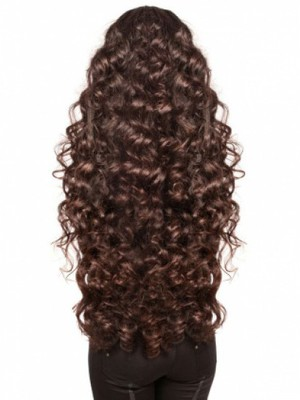 Capless Wavy Fabulous Great Remy Human Hair Wig - Image 1