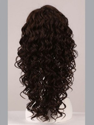 Capless Wavy Fabulous Great Remy Human Hair Wig - Image 2