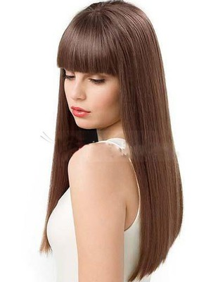 Straight Pretty Human Hair Capless Wig - Image 1