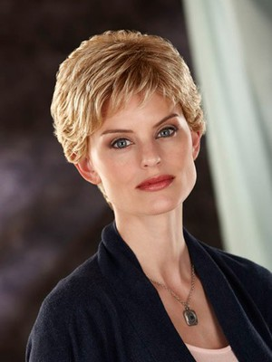 Short Slightly Waves Fashionable Synthetic Wig - Image 2