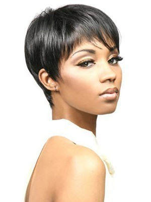 Bori Short Natural Synthetic Straight African American Wig - Image 1